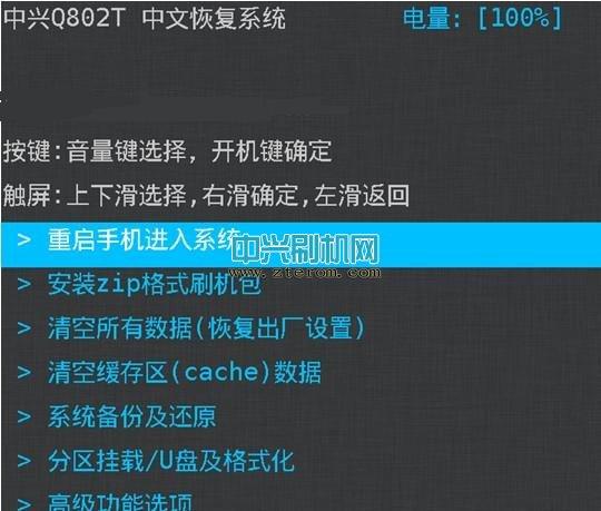 中兴Q802T中文Recovery恢复模式下载