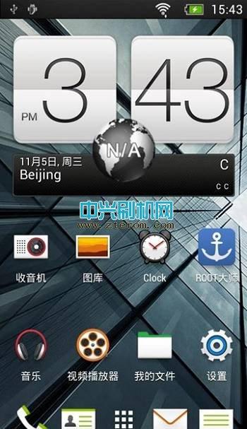 中兴Q201T刷机包 移植HTC ONE  精简优化卡刷包