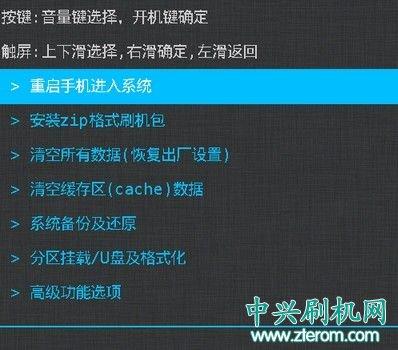 中兴U969中文Recovery恢复模式下载