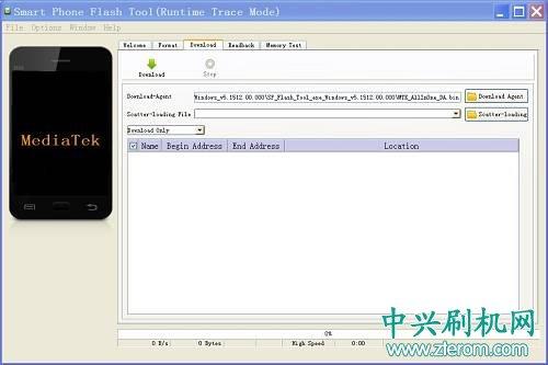 中兴MT6735线刷工具 SP_Flash_Tools_v5.1512.00