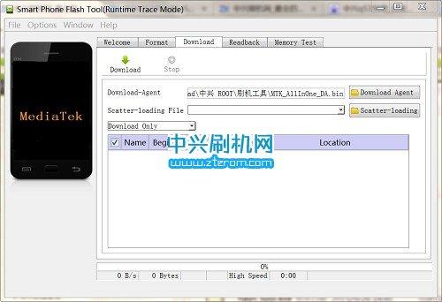 中兴Q519T线刷工具SP_FlashTool_v5.1520.00