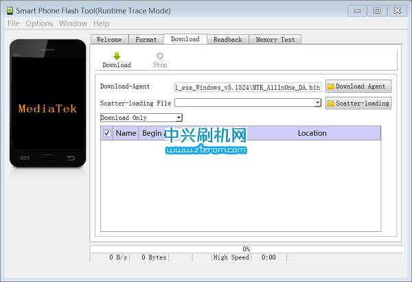 中兴远航3线刷刷机工具SP_Flash_Tool_exe_v5.1524